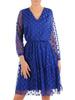 Rozkloszowana sukienka z tiulu w modne grochy 30285