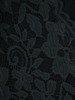 Rozkloszowana sukienka z tkaniny i koronki, kopertowa kreacja 22846