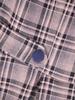 Rozkloszowana sukienka z tkaniny, kreacja z modnymi patkami 30701