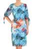 Sukienka damska, wzorzysta kreacja z oryginalnymi rękawami 29374