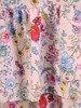 Sukienka w kwiaty, dziewczęca kreacja z falbanami 26679
