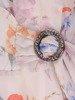 Sukienka w kwiaty, rozkloszowana kreacja z szyfonu 26220