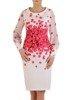 Sukienka wiosenna, wyszczuplająca kreacja z tkaniny 25579