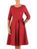 Sukienka wizytowa, rozkloszowana kreacja w kolorze bordowym 27571