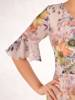Sukienka wyjściowa, zwiewna kreacja w kwiaty  28172