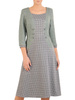 Sukienka wyszczuplająca, jesienna sukienka z imitacją żakietu 30542