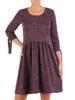 Sukienka z dzianiny, wizytowa kreacja w luźnym fasonie 27191