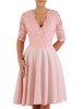 Sukienka z tkaniny i gipiury, kreacja w rozkloszowanym fasonie 22835