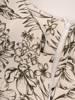 Sukienka z tkaniny, letnia kreacja w roślinny deseń 29878