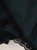 Sukienka z tkaniny o trapezowym kroju z modnymi wstawkami z koronki 25089
