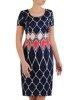 Sukienka z tkaniny, wiosenna kreacja w wyszczuplającym wzorze 25655