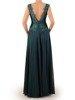 Sylwestrowa sukienka, zielona kreacja z koronki i szyfonu 24056