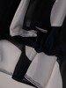 Szyfonowa sukienka o trapezowym kroju, kreacja z oryginalnym nadrukiem 25272