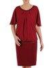 Szyfonowa sukienka z połyskującą listwą, kreacja w modnym fasonie 24529