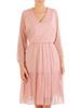 Tiulowa sukienka w groszki, kreacja w rozkloszowanym fasonie 30287