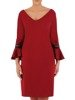 Trapezowa sukienka z koronkowymi wstawkami na rękawach 24158