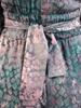 Wieczorowa sukienka maksi, kreacja z kopertowym dekoltem i asymetrycznym dołem 30825