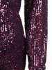 Wieczorowa sukienka z cekinów, kreacja z kopertowym dekoltem 30763