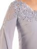 Wieczorowa trapezowa sukienka wykończona modną koronką 25185