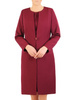 Wizytowy komplet damski, elegancka sukienka z długim żakietem 31058
