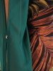 Wzorzysta sukienka z modnie wykończonymi rękawami 23175