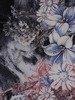 Wzorzysta sukienka z półgolfem, kreacja w modnych kolorach 24570