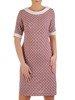 Wzorzysta sukienka z półgolfem, kreacja w modnych kolorach 25315