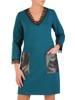 Zielona sukienka z koronkowymi dodatkami 28629