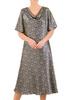 Zwiewna sukienka damska, kreacja z dekoltem podkreślającym biust 30793